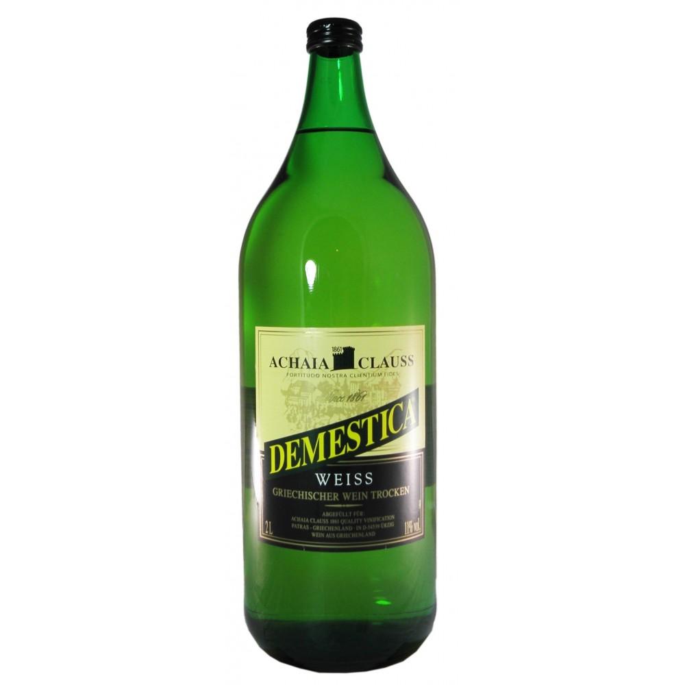 2630 Achaia Clauss  Demestica Weißwein 2 Liter