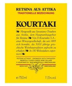1401 D. Kourtakis S.A.  Retsina Kourtaki 0,75 Liter
