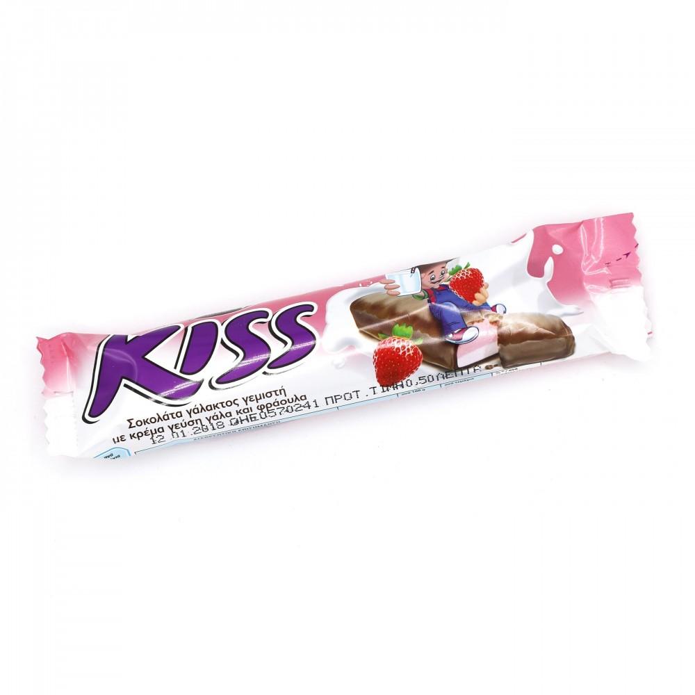 5130 Pavlidis  Kiss Schokoriegel mit Erdbeer-Füllung