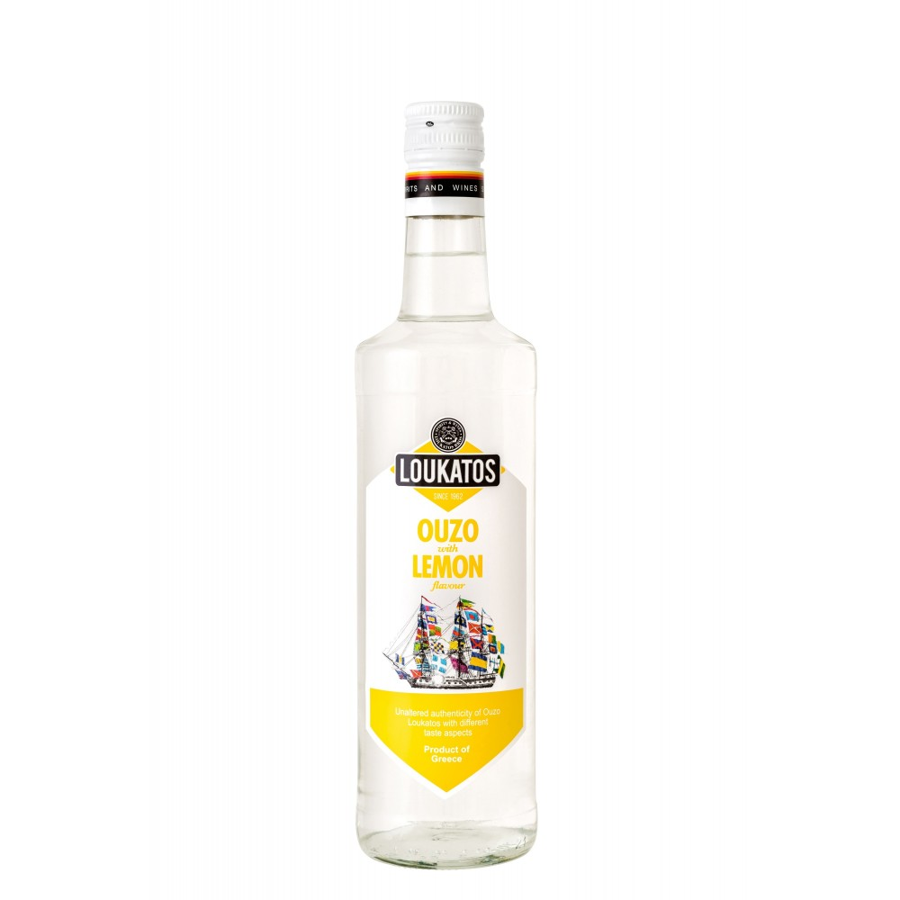 4857 Loukatos Bros Co.  Ouzo Loukatos Lemon 43% 0,2L