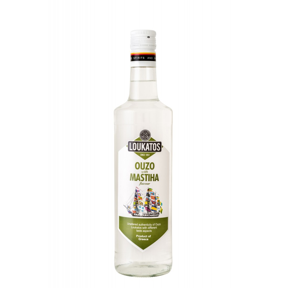 5121 Loukatos Bros Co.  Ouzo Loukatos Mastiha 38% 0,2L