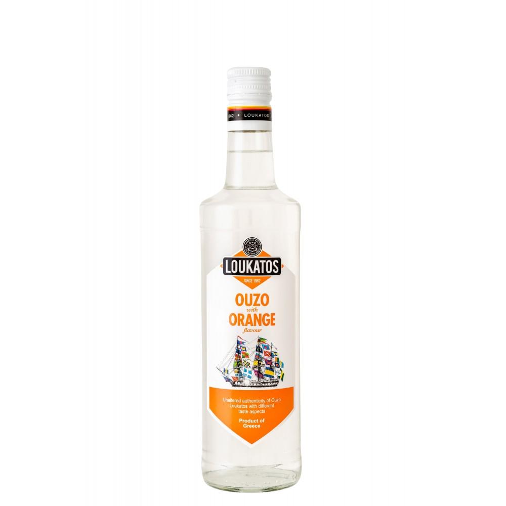 4856 Loukatos Bros Co.  Ouzo Loukatos Orange 43% 0,2L