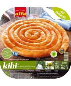 """1467 Alfa  \\""""Kihi\\"""" Filoteigschnecke mit Lauch & Feta Käse 800gr"""