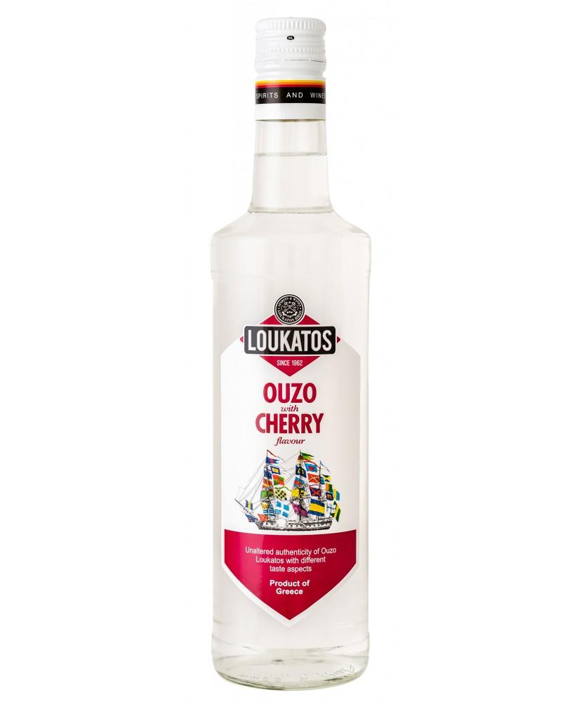 5125 Loukatos Bros Co.  Ouzo Loukatos Cherry 38% 0,7L