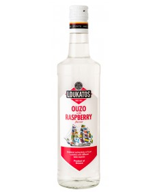 5128 Loukatos Bros Co.  Ouzo Loukatos Raspberry 38% 0,7L