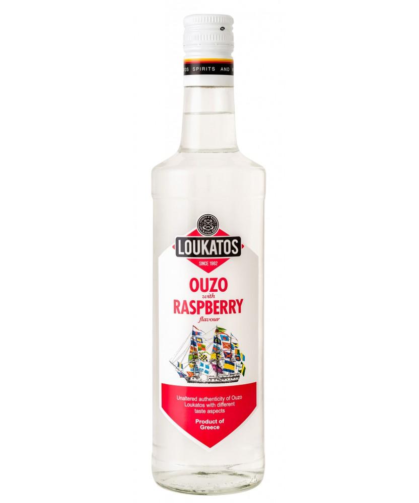 5128 Loukatos Bros Co.  Ouzo Loukatos Raspberry 38% 0,7L
