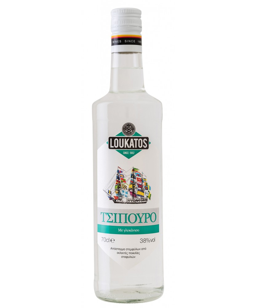 1546 Loukatos Bros Co.  Tsipouro Loukatos mit Anis 40% 0,7L