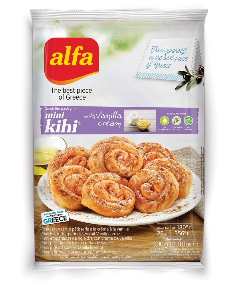 "1243 Alfa  Alfa Mini \\""Kihi\\"" Filoteigschnecke mit Creme 500gr"