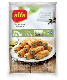 3785   Alfa Mini Filoteig Rolle mit Spinat & Feta Käse 500gr