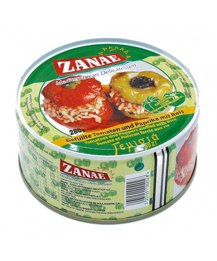 1487 ZANAE  Tomaten und Paprika gefüllt mit Reis
