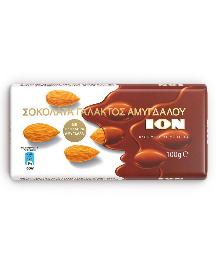 5900 ION  Mandelschokolade (mit ganzen Mandeln) 100g