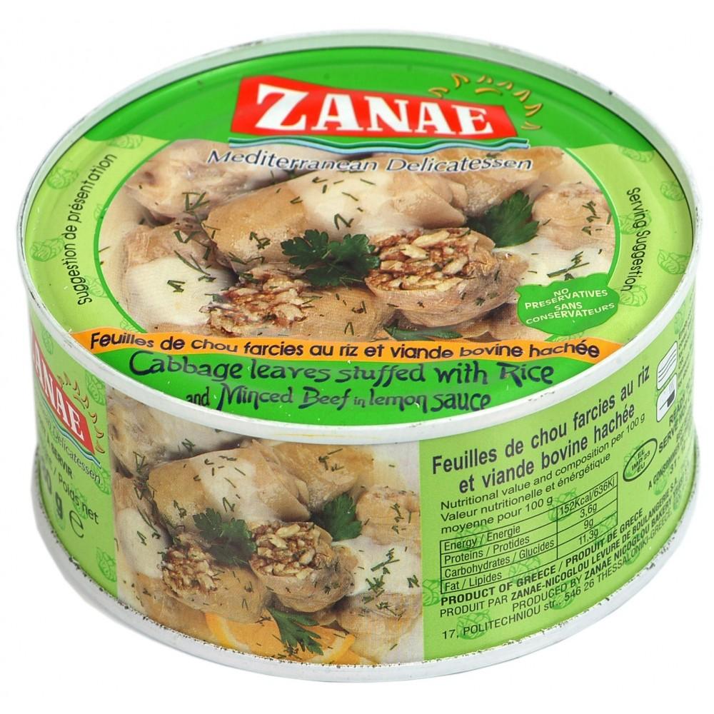 1599 ZANAE  Kohlblätter gefüllte mit Reis und gehacktes Rindfleisch ZANAE 280g