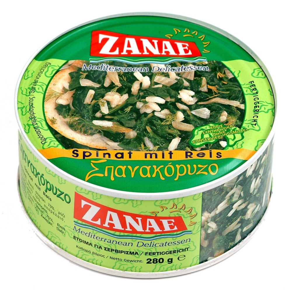 1438 ZANAE  Spinat mit Reis (Spanakoriso)