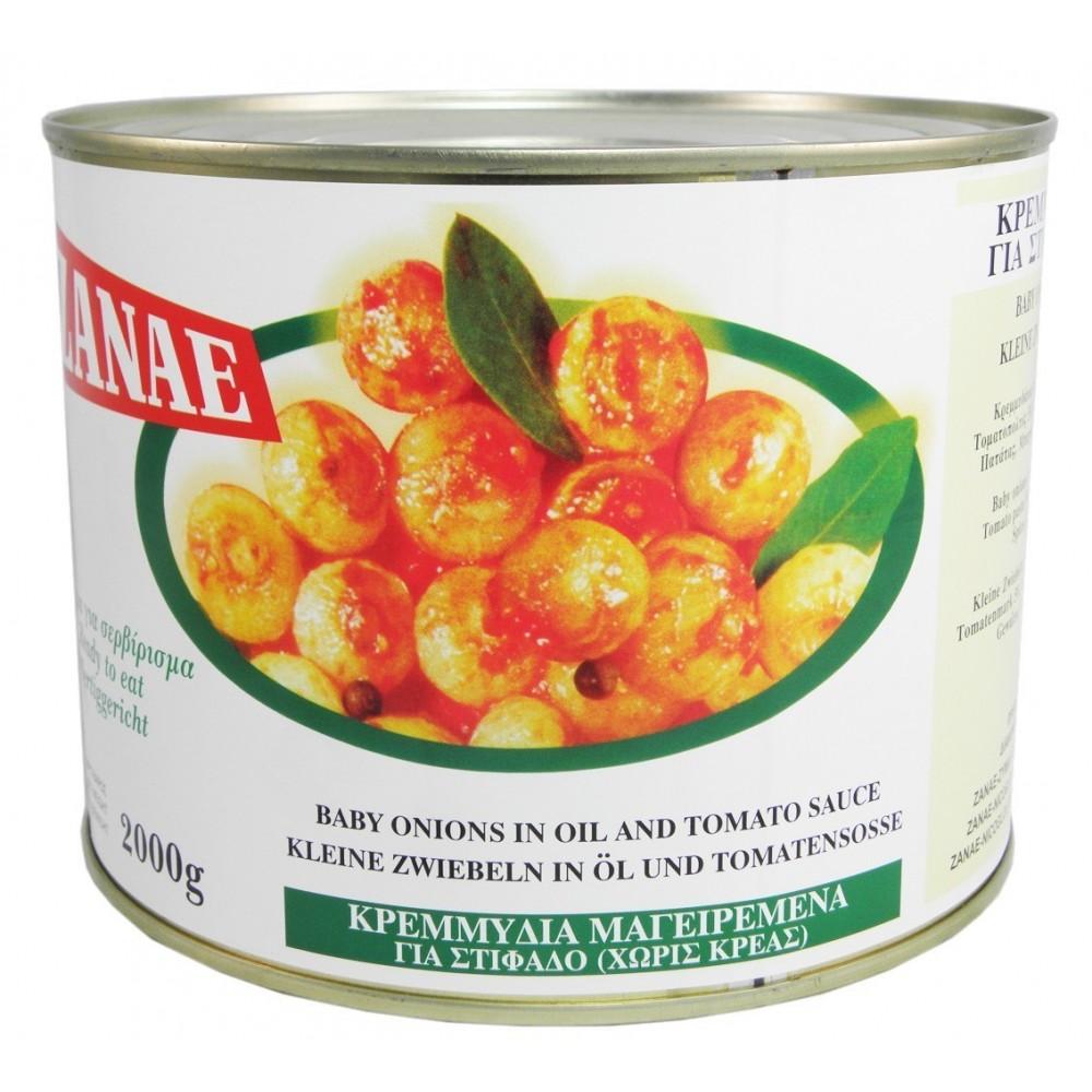 3448 ZANAE  Kleine Zwiebeln in Tomatenoße (Stifado) 2Kg
